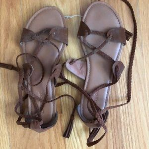 Strappy sandals!